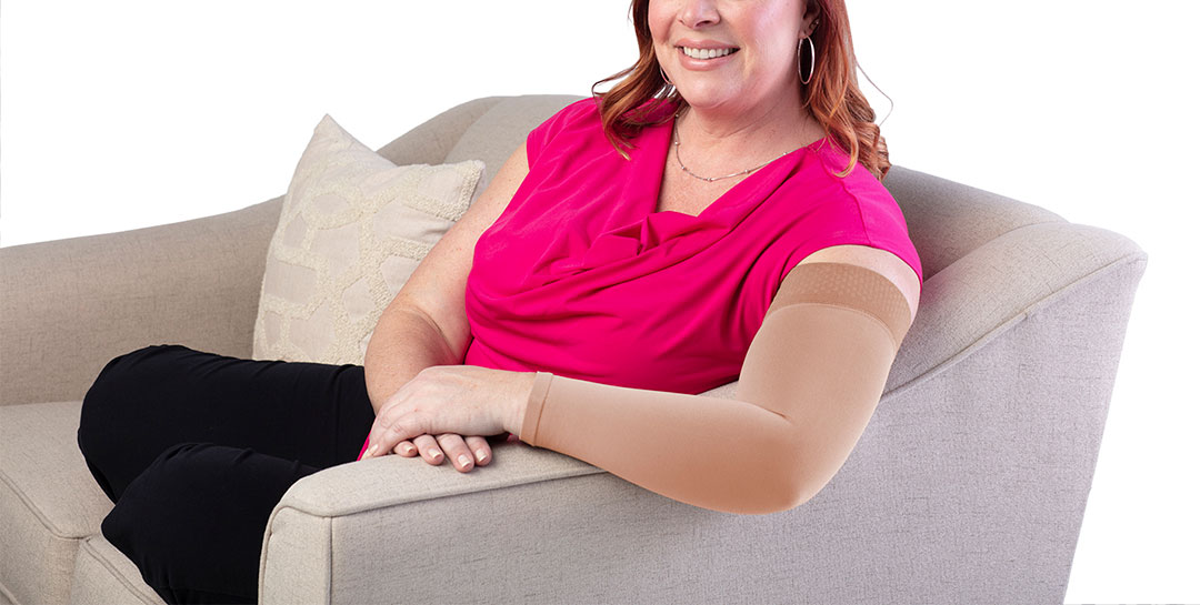 Woman with arm sleeve