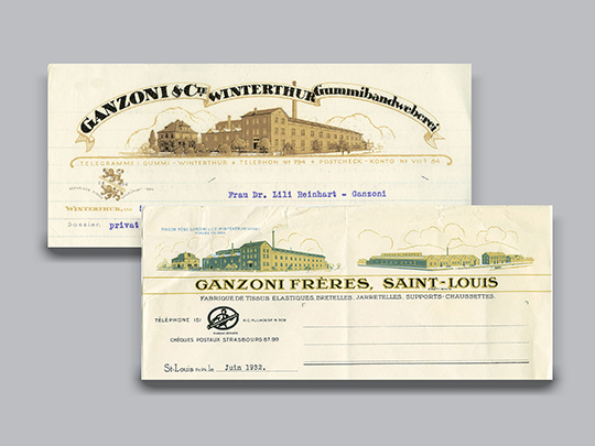 1919 Letterheads of Ganzoni company