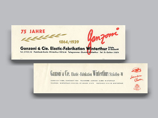 1937 Letterheads of Ganzoni company