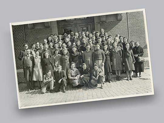 1941 Group picture Ganzoni employees in St. Gallen