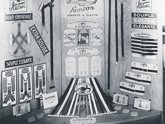1946 Ganzoni booth at the Foire de Lyon