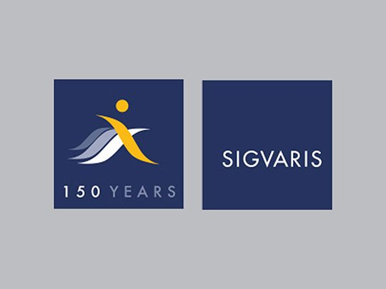 2014 Logo for the 150-year celebration of Sigvaris company
