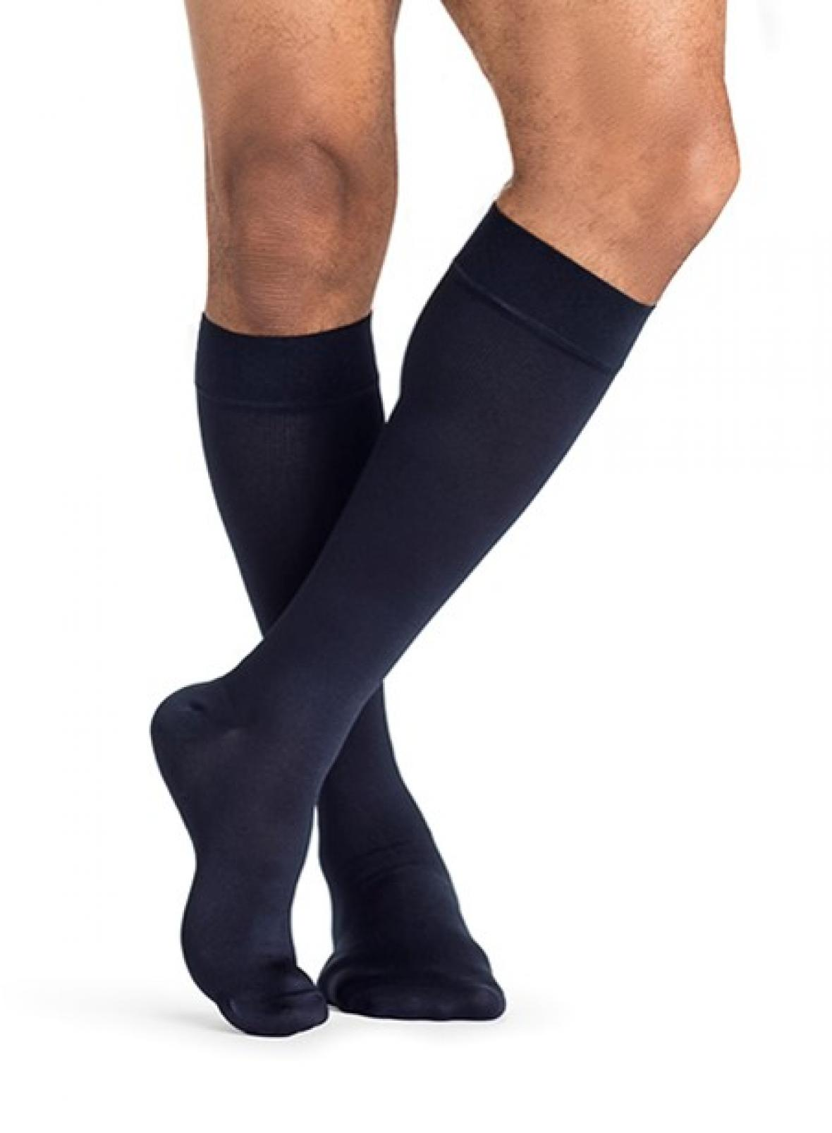 SIGVARIS' Popular Men's Line, MIDTOWN MICROFIBER, Now Available in Navy Compression Socks